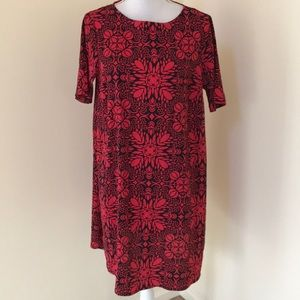 ASOS Size 8, red combo S/S maternity dress
